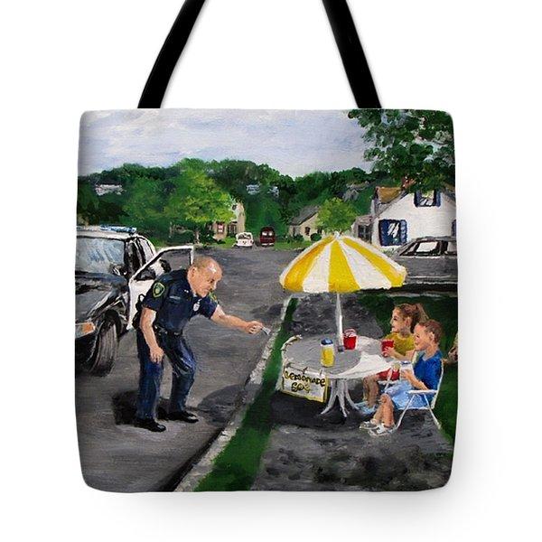 The Lemonade Stand Tote Bag by Jack Skinner