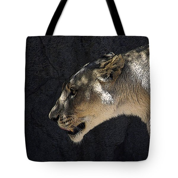 The Lioness Tote Bag by Ernie Echols