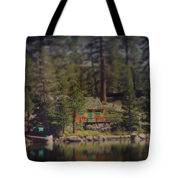 The Little Cabin Tote Bag by Laurie Search