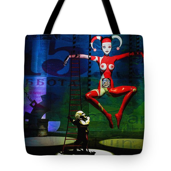 The Little Puppet Master Tote Bag by Bob Orsillo