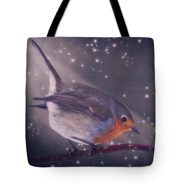 The Little Robin At The Night Tote Bag by Angela Doelling AD DESIGN Photo and PhotoArt