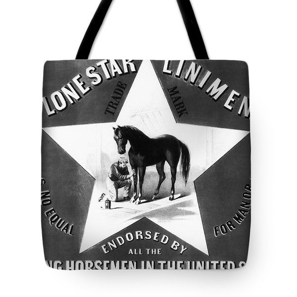 The Lonestar Liniment Tote Bag by Digital Reproductions