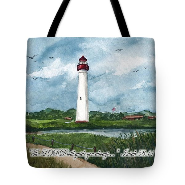 The Lord Guides  Tote Bag by Nancy Patterson