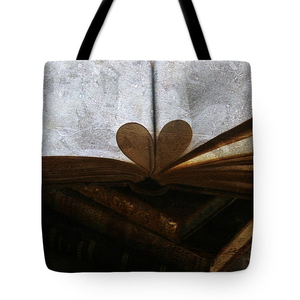 The Love of a Book Tote Bag by Georgia Fowler