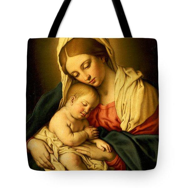 The Madonna And Child Tote Bag by Il Sassoferrato