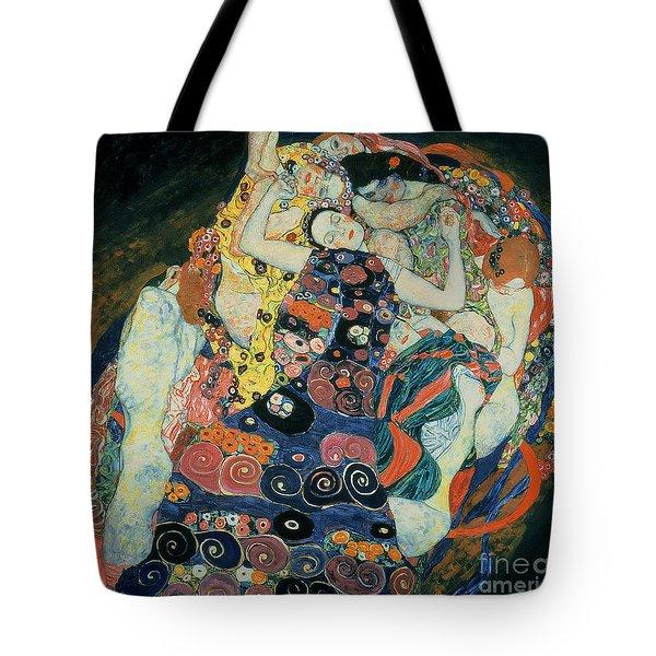 The Maiden Tote Bag by Gustav Klimt