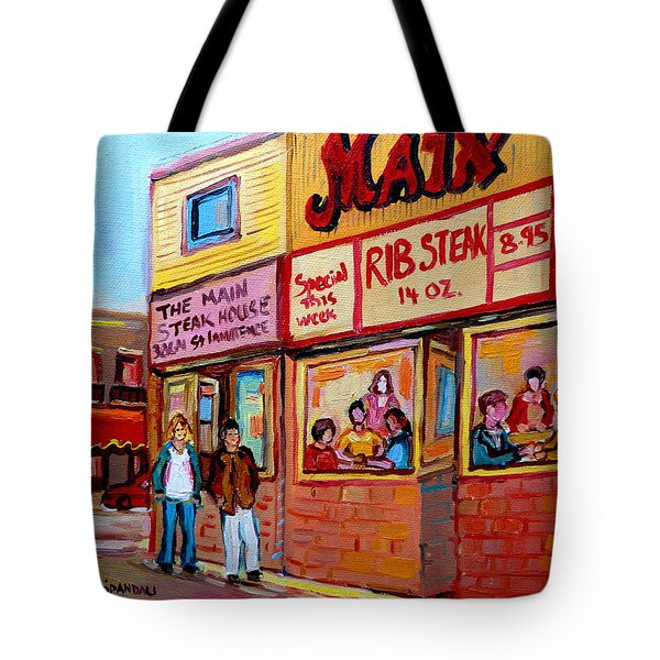 The Main Steakhouse On St. Lawrence Tote Bag by Carole Spandau