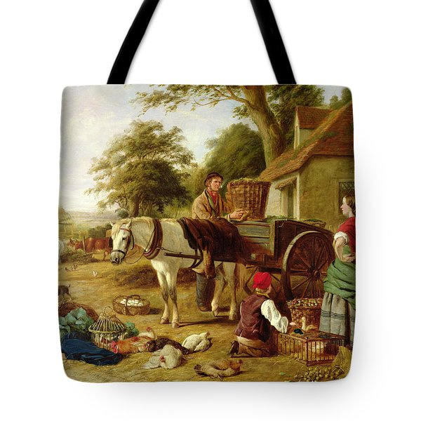 The Market Cart Tote Bag by Henry Charles Bryant