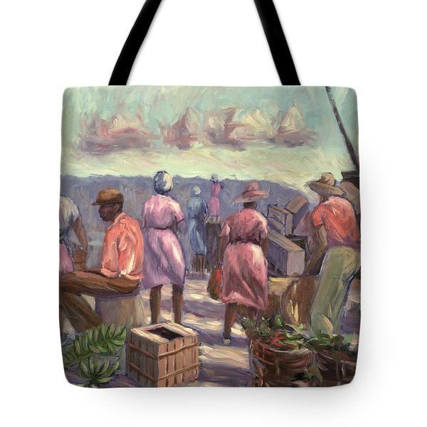 The Marketplace Tote Bag by Carlton Murrell