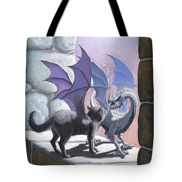The Meeting Tote Bag by Stanley Morrison