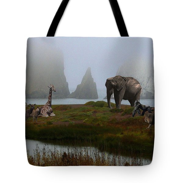 The Menagerie 2 Tote Bag by Wingsdomain Art and Photography