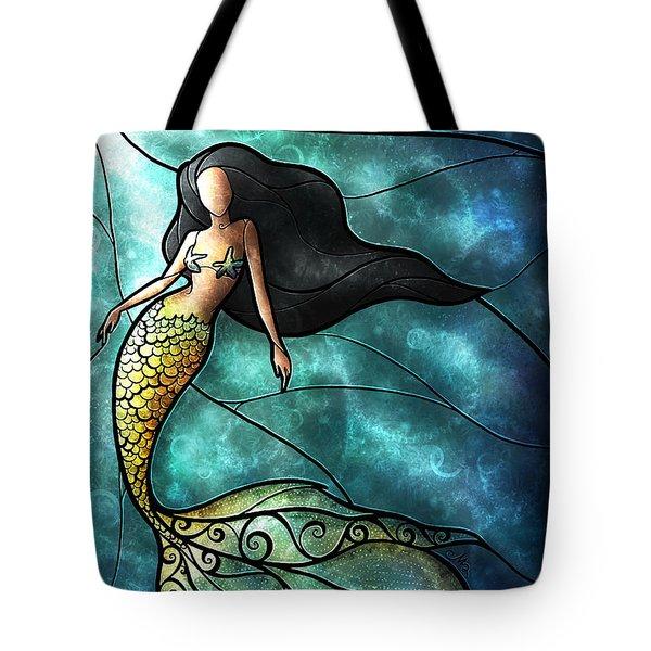 The Mermaid Tote Bag by Mandie Manzano