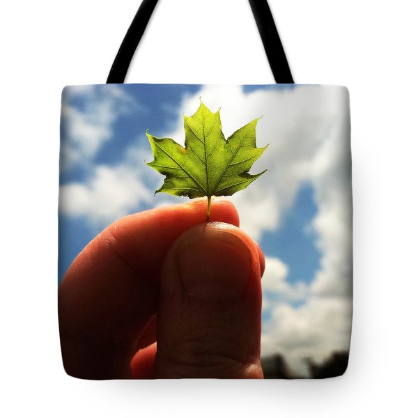The Mighty Maple Tote Bag by Michelle Calkins