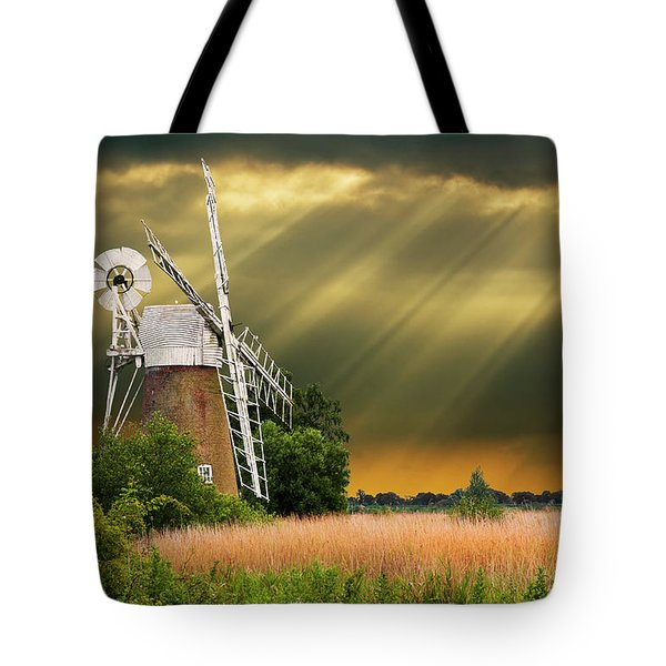 the mill on the marsh Tote Bag by Meirion Matthias