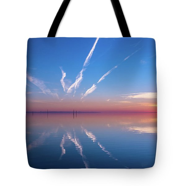 Tote Bag featuring the photograph The Mirror by Thierry Bouriat