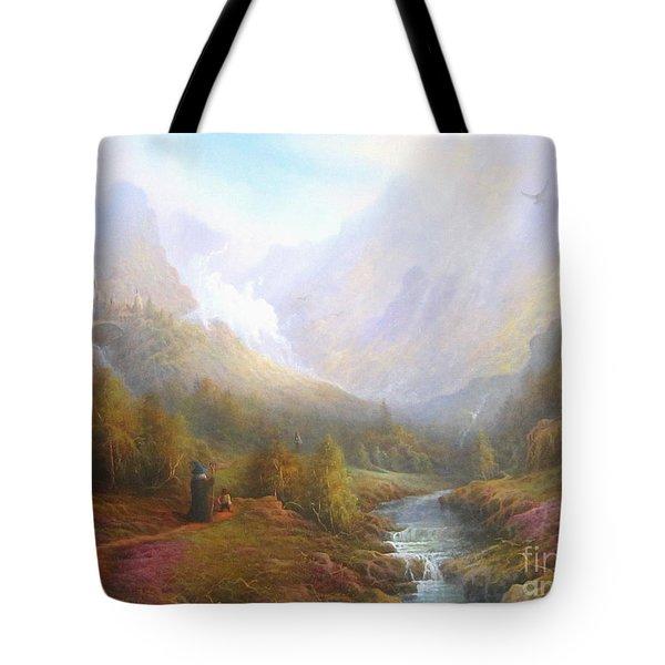 The Misty Mountains Tote Bag by Joe  Gilronan