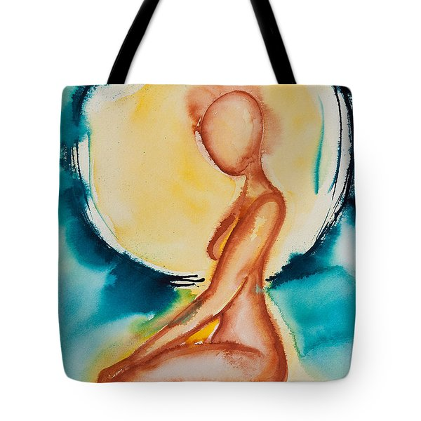 The Moon And Me Tote Bag by Ilisa  Millermoon