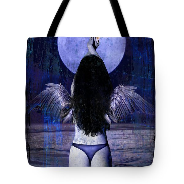 The Moon Tote Bag by Tammy Wetzel