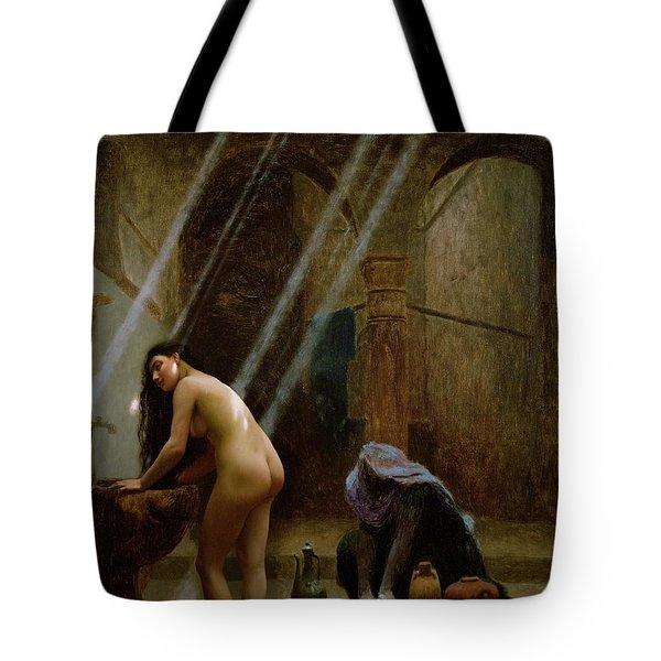 The Moorish Bath Tote Bag by Jean Leon Gerome
