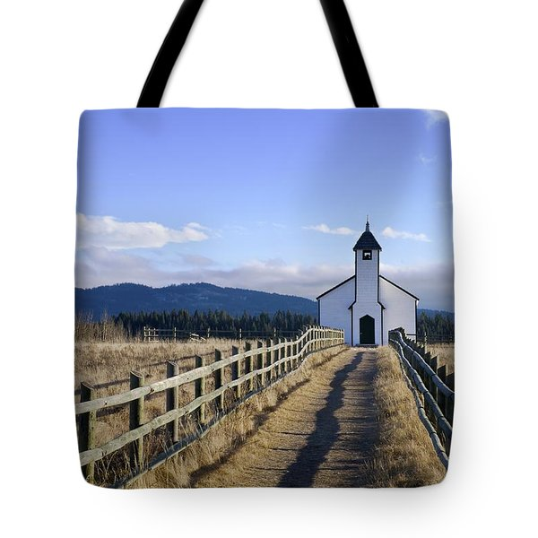 The Morley Church, Alberta, Canada Tote Bag by Philippe Widling