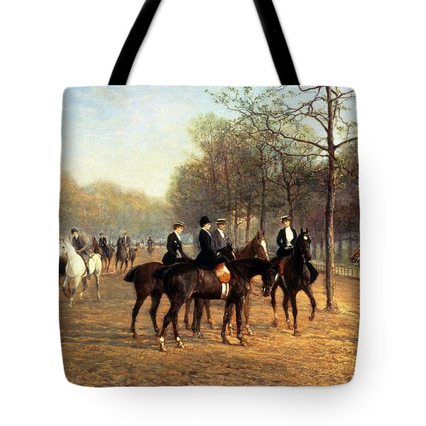 The Morning Ride Rotten Row Hyde Park Tote Bag by Heywood Hardy