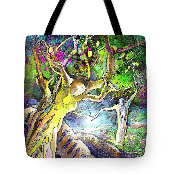The Multiplication Of Bread Tote Bag by Miki De Goodaboom