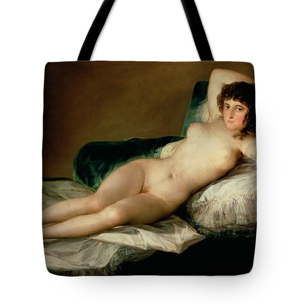 The Naked Maja Tote Bag by Goya