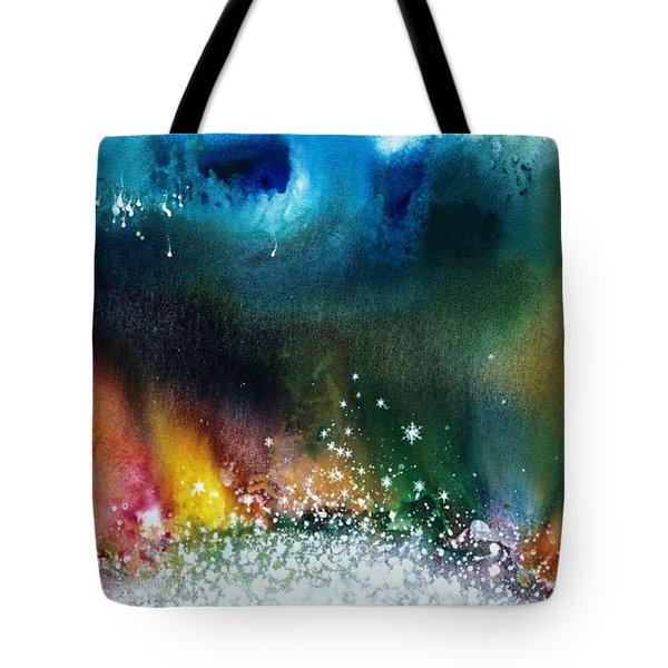 The Northern Lights Of Andromeda Tote Bag by Lee Pantas