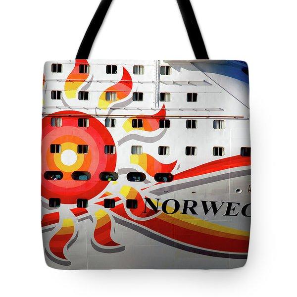 The Norwegian Sun Bow Tote Bag by Susanne Van Hulst