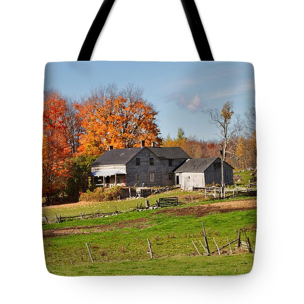 The Old Farm in Autumn Tote Bag by Louise Heusinkveld