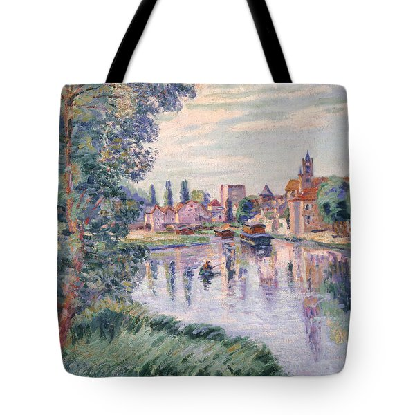 The Old Samois Tote Bag by Jean Baptiste Armand Guillaumin