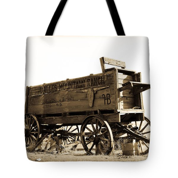 The Old Wagon Tote Bag by Steve McKinzie