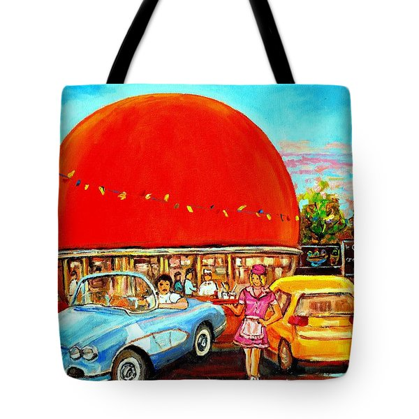 The Orange Julep Montreal Tote Bag by Carole Spandau