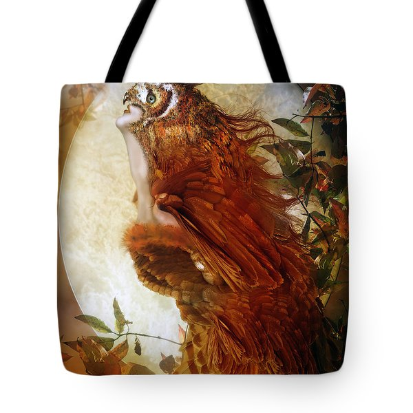 The Owl Tote Bag by Mary Hood