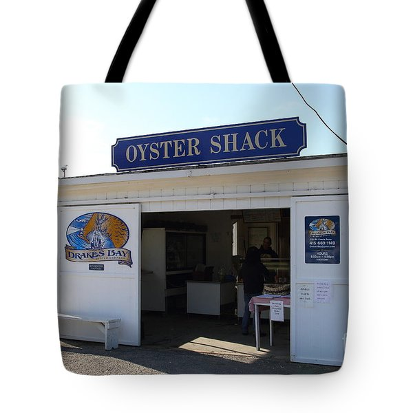 The Oyster Shack at Drakes Bay Oyster Company in Point Reyes California . 7D9832 Tote Bag by Wingsdomain Art and Photography
