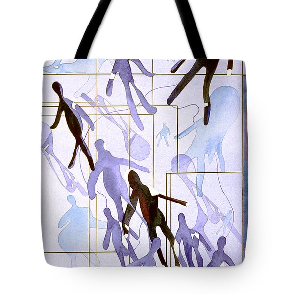 The Party Inclusion And Ostracism In A Symbolic Painting Tote Bag by Phil Albone