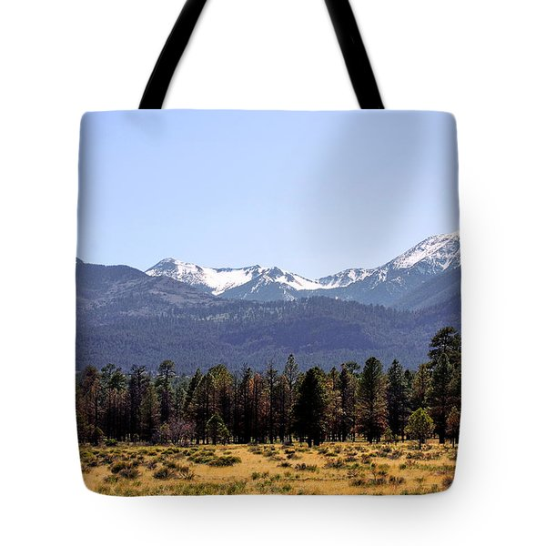 The Peaks - Where earth meets heaven Tote Bag by Christine Till