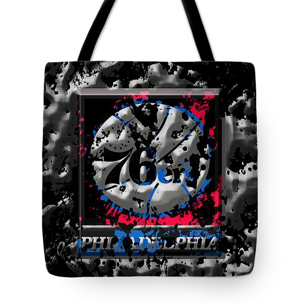 The Philadelphia 76ers Tote Bag by Brian Reaves