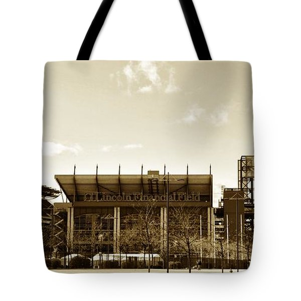 The Philadelphia Eagles - Lincoln Financial Field Tote Bag by Bill Cannon