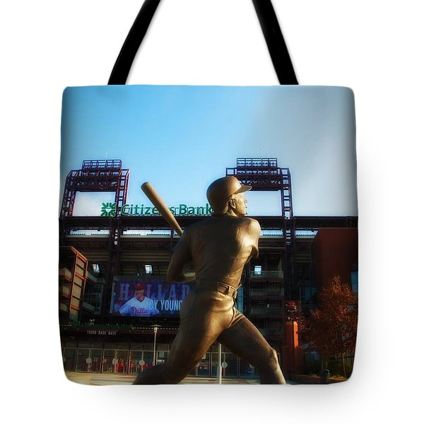 The Phillies - Mike Schmidt Tote Bag by Bill Cannon