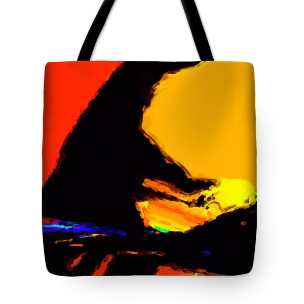 The Pianist Tote Bag by Richard Rizzo