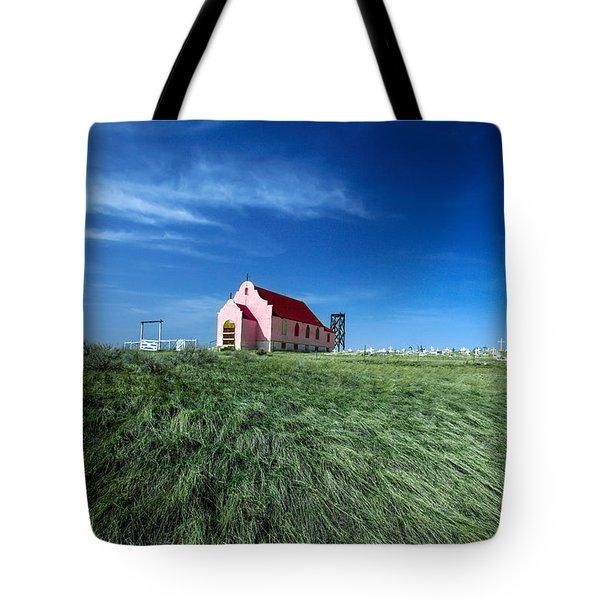 The Pink Church Tote Bag by Todd Klassy