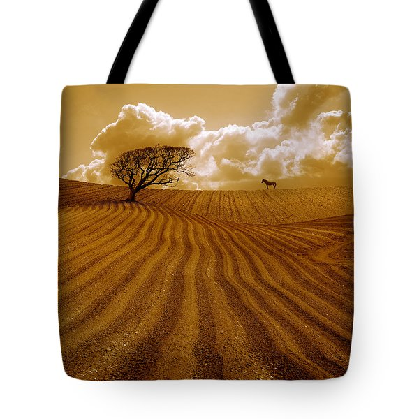 The Ploughed Field Tote Bag by Mal Bray