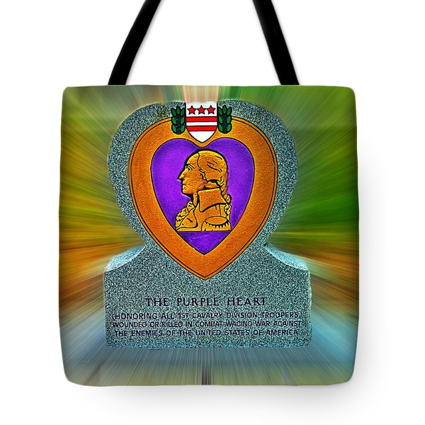 the Purple Heart Tote Bag by Francisco Colon