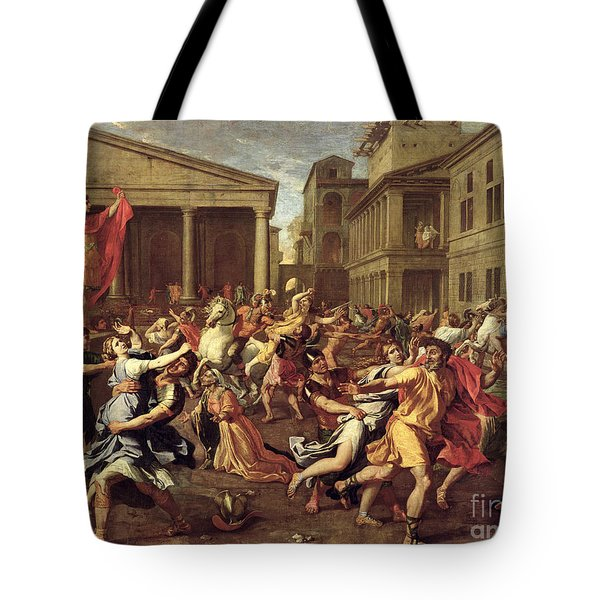 The Rape Of The Sabines Tote Bag by Nicolas Poussin