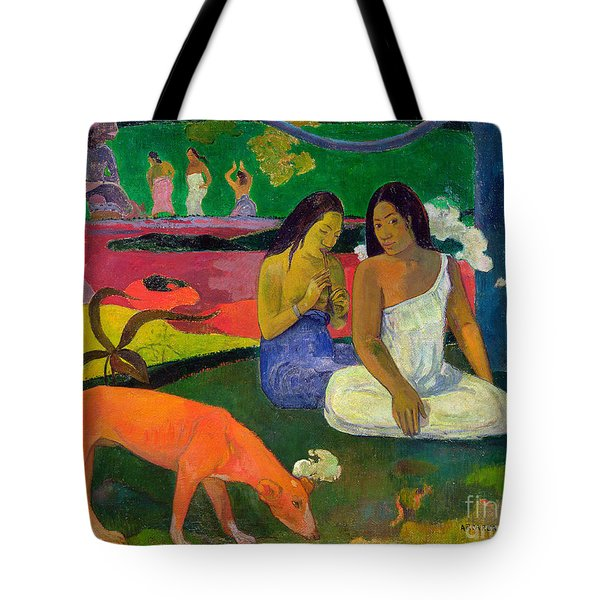 The Red Dog Tote Bag by Paul Gauguin
