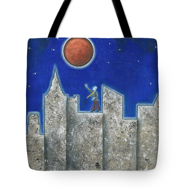 The Red Moon Tote Bag by Graciela Bello