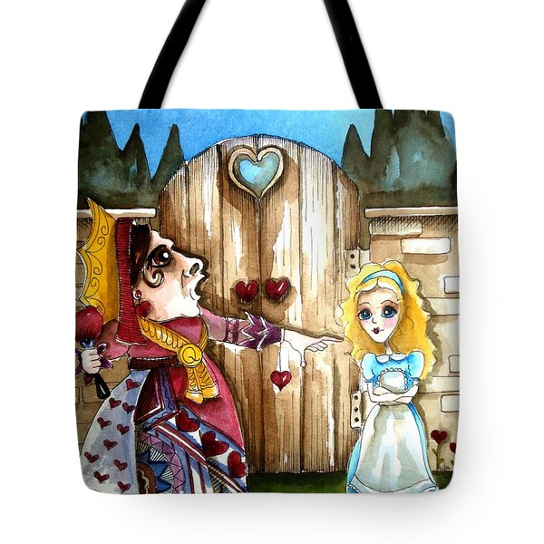 The Red Queen Tote Bag by Lucia Stewart