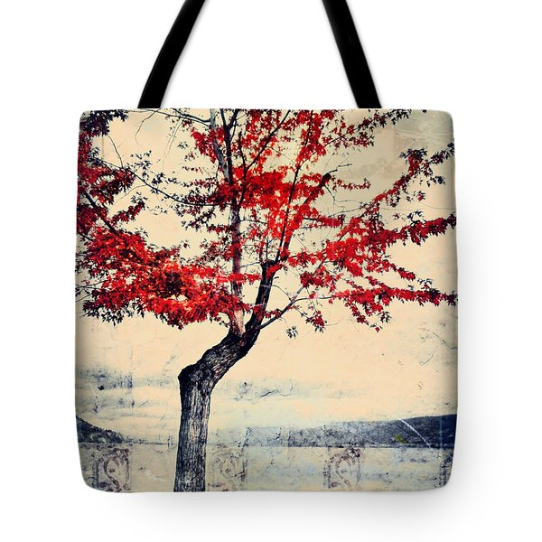 The Red Tree At Okanagan Lake Tote Bag by Tara Turner
