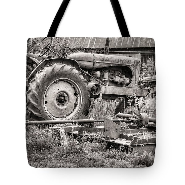 The Retirement Home Black and White Tote Bag by JC Findley